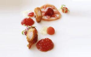 Culinaire concepten tomaten gerecht